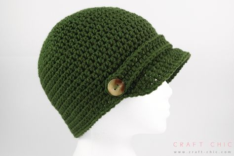 Free Crochet Pattern: Basic Newsboy Hat