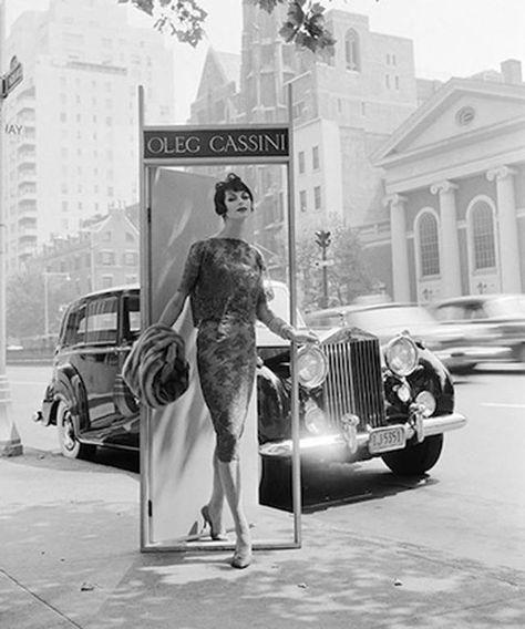 William Helburn, Ann St. Marie, Oleg Cassini, Park Avenue at 63rd Street, 1958