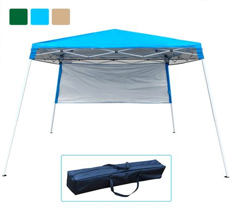 Quictent Slant Leg 10 X 10 Instant Pop Up Canopy Light Blue Canopy Tent Pop Up Canopy Tent 10x10 Canopy Tent