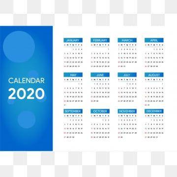 Calendar 2020 New Year Vector Template Design Png And Vector In 2020 Creative Calendar Calendar Design Template Calendar Design