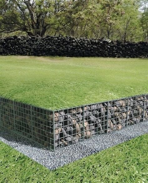 Gabion Wall Design Ideas Ronniebrownlifesystems Backyard