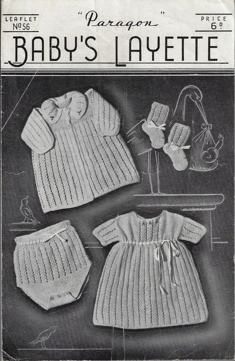 Details About Baby Layette Paragon 56 Vintage Knitting Pattern 3