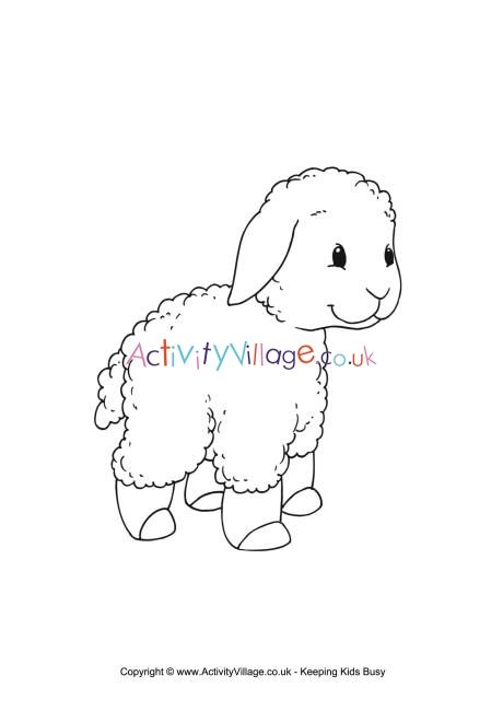 Lamb Colouring Page 2 Coloring Pages Color Lamb