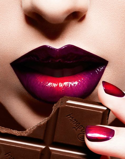 Chocolate Consumed Whilst Rocking Fabulous Ombre Lip Makeup Is Calorie Free! -ShazB