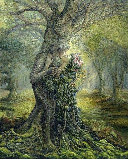 Dryad+And+The+Tree+Spirit+at+FramedArt.com