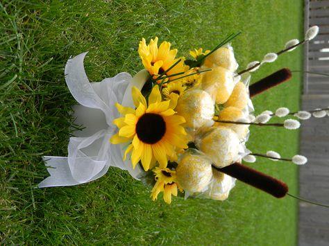 Cake pop sunflower arrangement - shower idea?