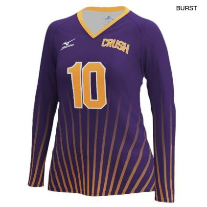 Mizuno Women S 440380 Custom Sublimated Long Sleeve Jersey Volleyball Jerseys Long Sleeve Jersey Jersey