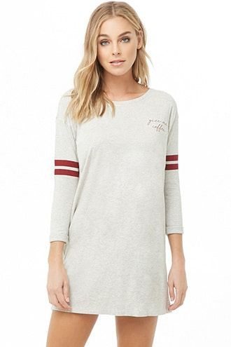 Give Me Coffee Graphic T-shirt Night Dress