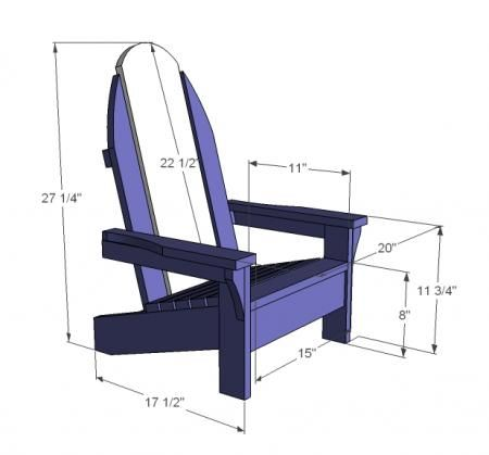 I want to make this! DIY Furniture Plan from Ana-White.com Bring the beach to your backyard with this surf board inspired Adirondack Chair for you little one! Features a lower seat, some extra styling, wide armrests, the surf board Adirondack chair is the coolest kids outdoor chair on the deck!