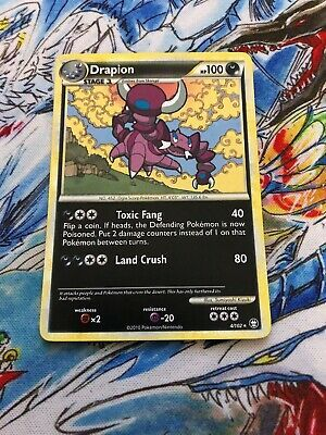 Ad - POKEMON DRAPION 4/102 HOLO RARE HGSS TRIUMPHANT LIGHT PLAY