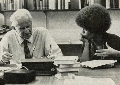 Herbert Marcuse and Angela Davis