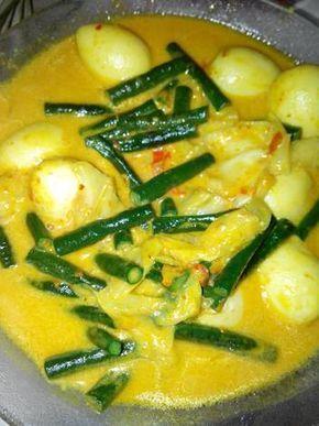 Resep Gulai Kacang Panjang Ala Padang Kol Telor Puyuh Oleh Vella Martyana Resep Resep Makan Siang Sehat Makanan Dan Minuman Resep