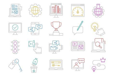 Seo and web optimization Vol.1 (128860)   Icons   Design Bundles