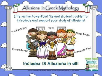 Introduction To Greek Mythology With Allusions Mythology