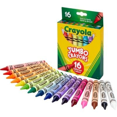 16ct Crayola Jumbo Crayons Jumbo Crayons Crayola Jumbo Crayons