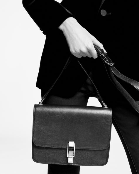 Saint Laurent CARRE Satchel In Smooth Leather  | YSL.com