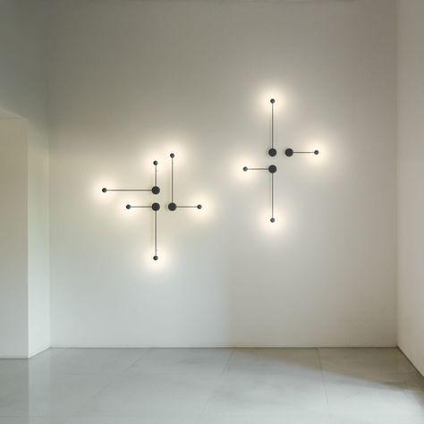 Applique murale contemporaine / en métal laqué / à LED / verte PIN by Ichiro Iwasaki VIBIA LIGHTING