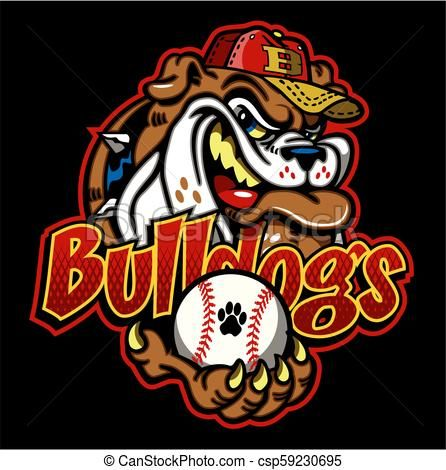 Bulldogs Baseball Vector Stock Illustration Royalty Free Illustrations Stock Clip Art Icon Stock Clipart Icons Logo L Bulldog Baseball Vector Vector Art