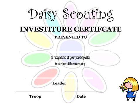 Daisy Investiture Ceremony Invitation - Invitation Templates I - ceremony invitation template