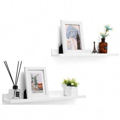 Ebern Designs Stricklin Floating Shelf Shelvesinbedroom In 2020 Floating Shelves Shelves Floating Shelves Diy