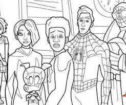 Spider Man Into The Spider Verse Coloring Pages Miles Morales Google Search Spider Verse Coloring Pages Spiderman