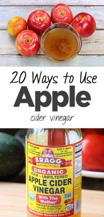 20 Ways To Use Apple Cider Vinegar Apple Cider Vinegar Cleaning Cleaning Hacks Vinegar Vinegar Cleaner