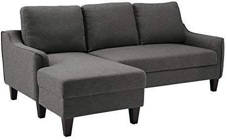 Amazon Com Ashley Furniture Signature Design Jarreau Contemporary Upholstered Sofa Chaise Sleeper Chaise Sofa Upholstered Sofa Queen Sofa Sleeper