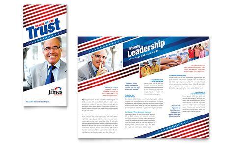 Political Campaign Brochure Designs  Political Campaign Tri Fold
