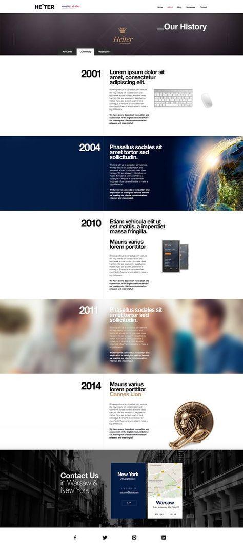 33 Trendy Company History Design Inspiration Timeline Design History Design Web Layout Design