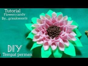 Diy76 Membuat Tempat Permen Bentuk Bunga Dari Kain Flanel