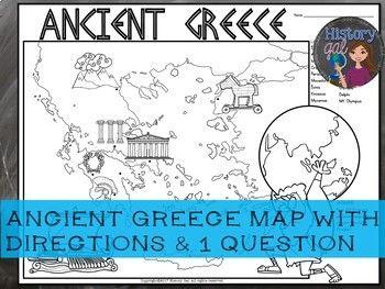 Ancient Greece Map Activity Ancient Greece Map Map Activities