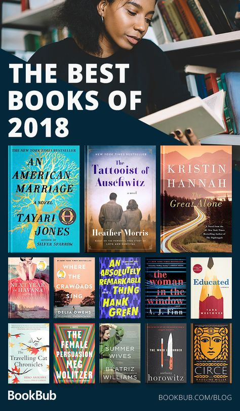 2018 was a great year for literature — we've rounded up 19 great books that we loved this year, spanning many genres!