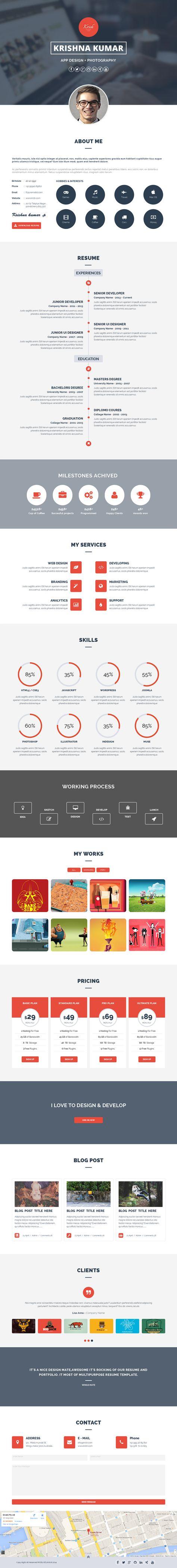 Portfolio | Design | Webdesign | Website - design process and skills sections