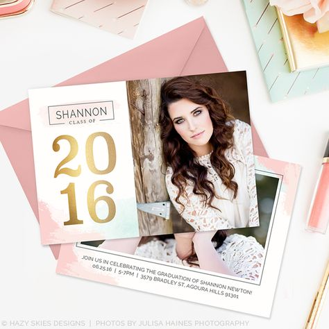 High School Senior Graduation Announcement Template Photographers
