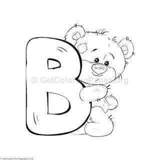 Alfabeto Ursinho Para Imprimir Desenho De Ursinho De Pelucia