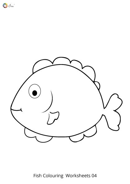 Free Downloadable Fish Worksheet For Kids Ira Parenting In 2020 Rainbow Fish Fish Drawing For Kids Rainbow Fish Template