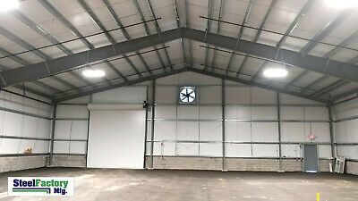 Steel Factory 40x100x20 Warehouse Storage Building Paint Shop Tractor Garage Kit Ebay In 2020 Commercial Steel Buildings Building Metal Garage Buildings