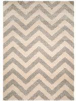 benuta Teppiche: Moderner Designer Hochflor Teppich Graphic Zick Zack Grau 80x150 cm - GuT-Siegel - 100% Polypropylen - Chevron / Zickzack - Maschinengewebt - Wohnzimmer