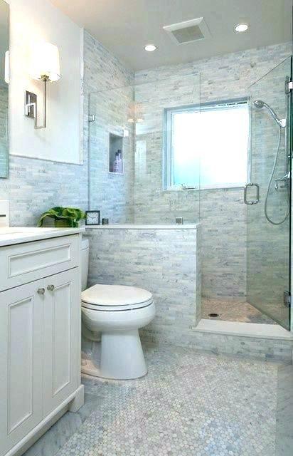 Half Wall Shower Glass Half Wall Shower Glass Pony Ideas Partition I Half Wall Glass Showe Bathroom Remodel Designs Bathroom Remodel Shower Tiny House Bathroom