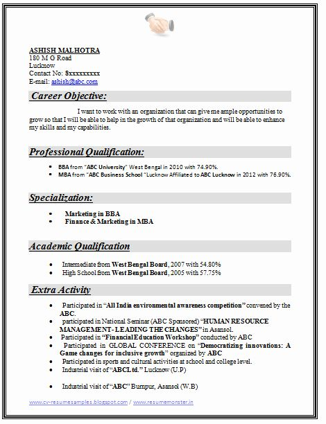 Objective For Resume For Freshers Unique Over Cv And Resume Samples With Free Download In 2020 Marketing Resume Downloadable Resume Template Resume Objective Examples