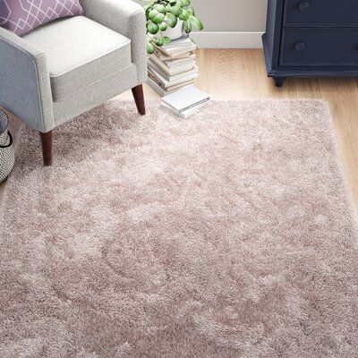 Grovelane Aarav Shag Blush Pink Area Rug Wayfair In 2020 Pink Area Rug Rugs On Carpet Area Rugs