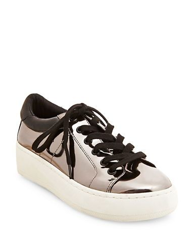 e2e69d4c628 Steve Madden Bertie-M Lace-Up Sneakers Women s Pewter 9