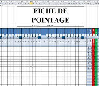 Modele Feuille De Pointage Excel Feuille De Presence Modele De Feuille Logiciel Schema Electrique