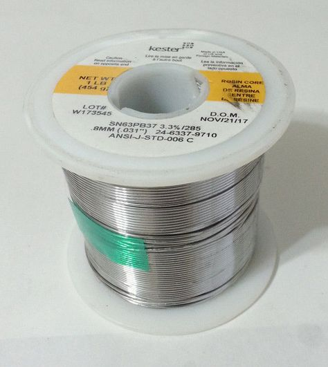 50//50 .125-Inch 1-Pound Spool Acid Flux Core Solder