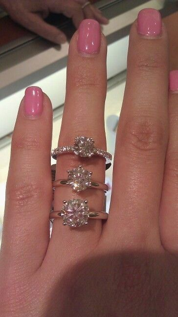 1 1 5 And 2 Carat Round Diamond Solitaire Engagement Rings Round Engagement Rings Engagement Rings Affordable Popular Engagement Rings