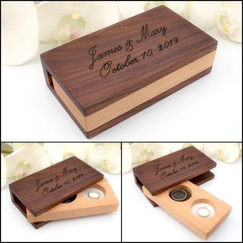Wedding Ring Box Wood Ring Box Wedding Wooden Ring Box Wedding Ring Box