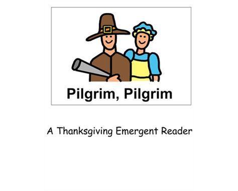 Boardmaker Online Pilgrim pilgrim thanksgiving emergent reader
