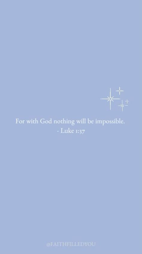 An inspirational and motivational Bible verse to inspire you and remind you that nothing is impossible with God! God is omnipotent and all-powerful! #faith #bible #bibleverses #faithfilledyou