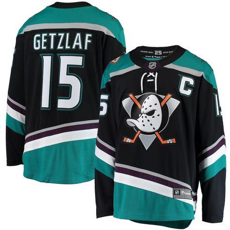 148a8f9f655 Men's Anaheim Ducks Ryan Getzlaf Fanatics Branded Black Alternate Breakaway  Player Jersey
