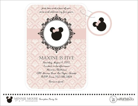 Minnie Mouse Invitation, Digital, DIY, Printable. $10.00, via Etsy.